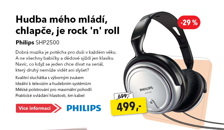 Sluchátka Philips SHP2500