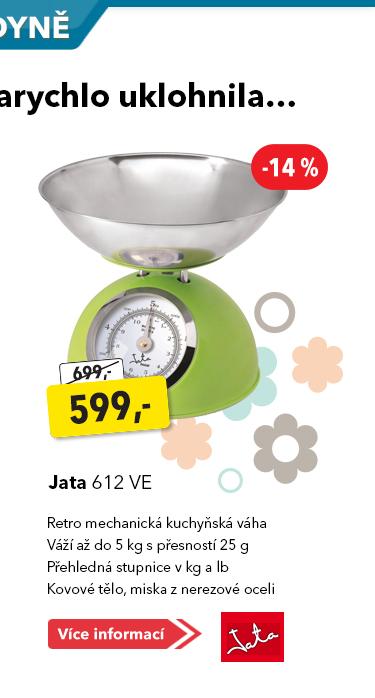 Kuchyňská váha Jata 612 VE