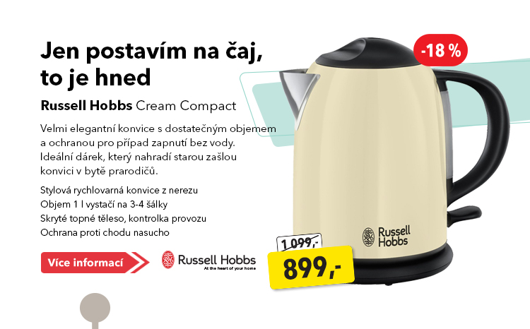 Konvice Russel Hobbs Cream Compact