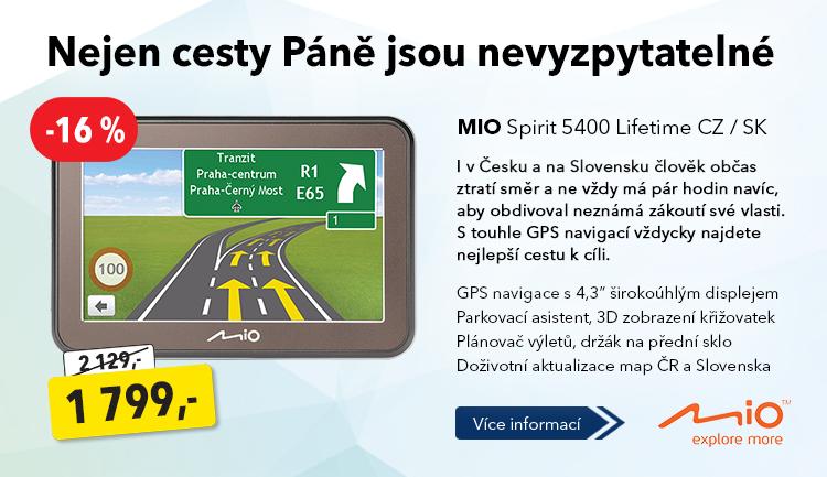 Navigace Mio Spirit 5400 Lifetime
