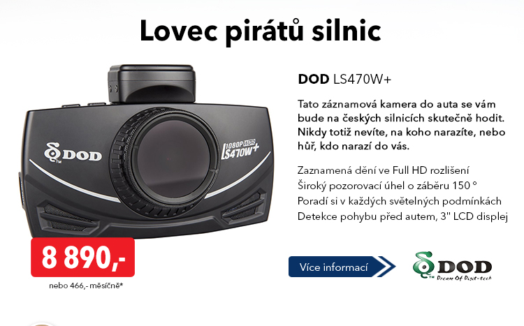 Záznamová kamera DOD LS470W+