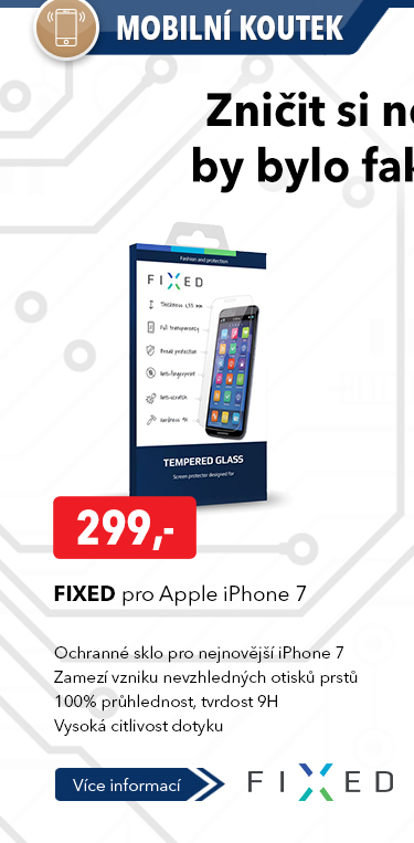 Ochranné sklo FIxed pro Apple iPhone 7