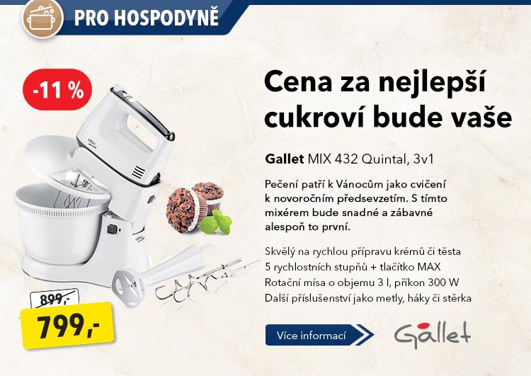 Kuchyňský robot Gallet Mix 432 Quintal