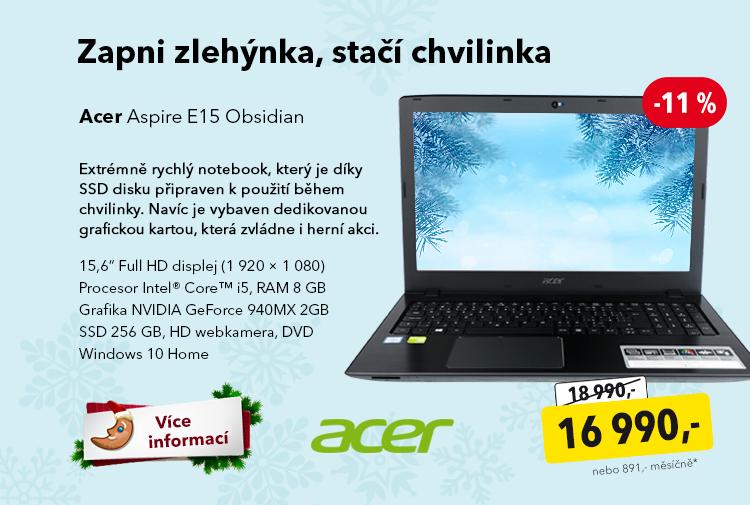 Notebook Acer Aspire E15 Obsidian