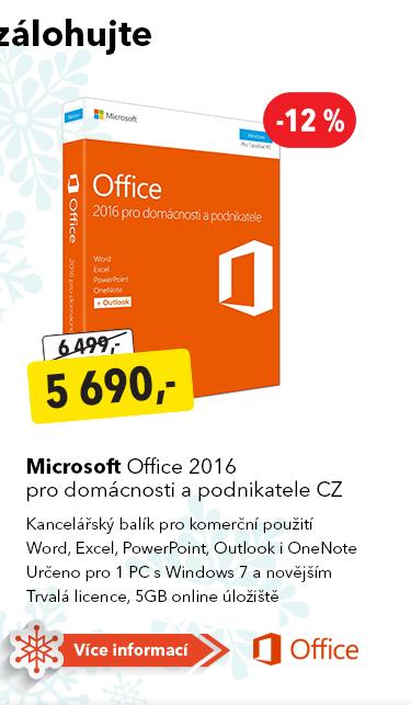 Balíček Microsoft Office 2016