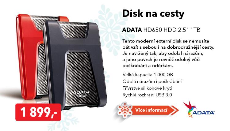 Externí disk Adata HD650 1TB