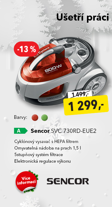Vysavač Sencor SVC 730RD-EUE2