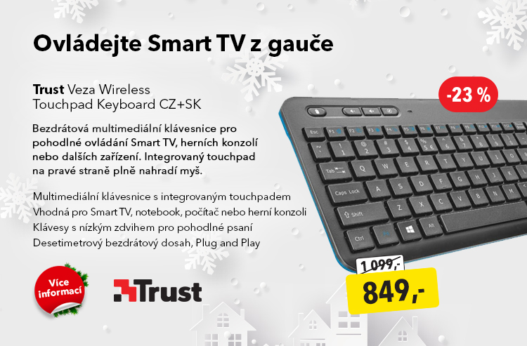 Klávesnice Trust Veza Wireless Touchpad