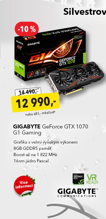 Grafika Gigabyte GeForce GTX 1070