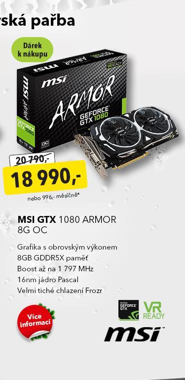 Grafika MSI GTX 1080 Armor