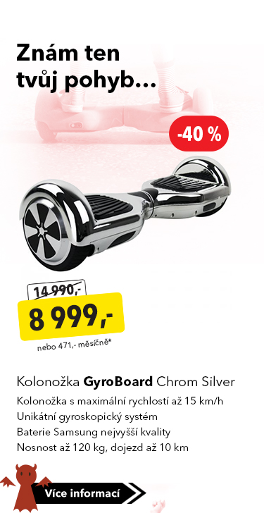 Kolonožka GyroBoard Chrom