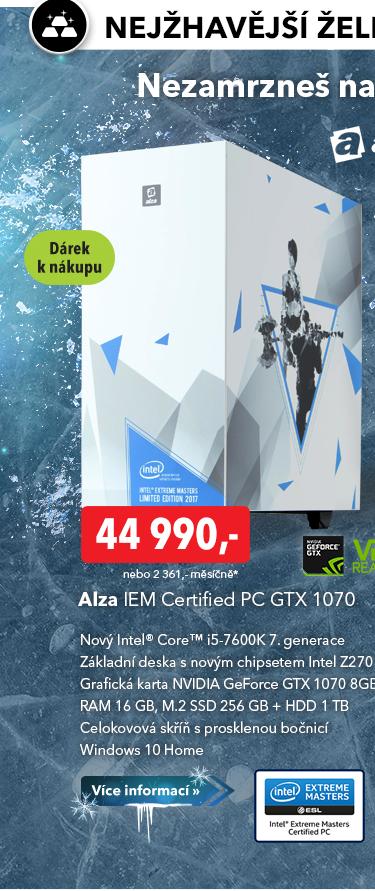 Počítač IEM Certified PC GTX 1070