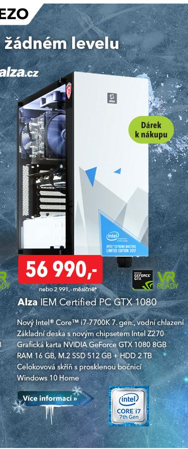 Počítač IEM Certified PC GTX 1080