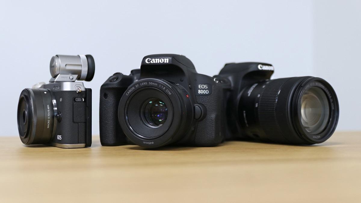 foťáky Canon EOS 800D 77D M6 fotoaparáty