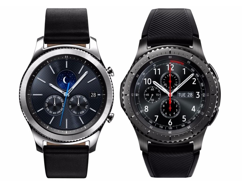 Chytré hodinky Samsung Gear S3 Frontier; Gear S3 Classic