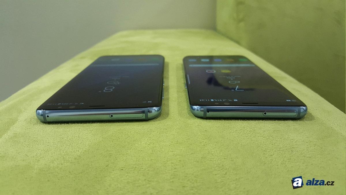 Samsung Galaxy S8 a S8+, horná hrana