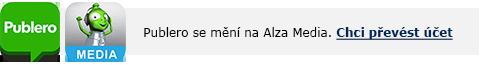 Publero přechod na Alza.cz
