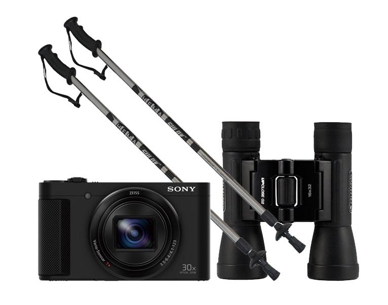 present for grandpa; Sony CyberShot DSC-HX90V GPS; Calter Hema; Celestron UpClose G2 Roof Binocular