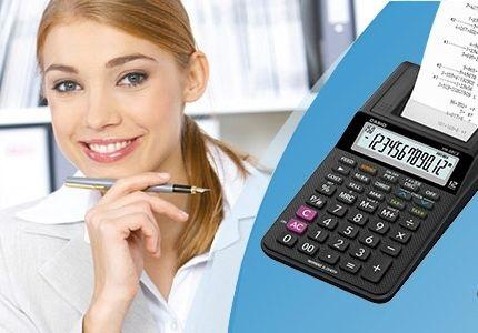 stolní kalkulačka s tiskem casio