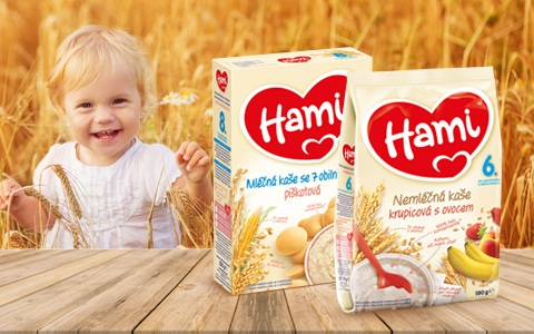 Mléčné a nemléčné kaše Hami