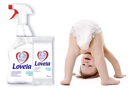 Čisticí prostředky Lovela