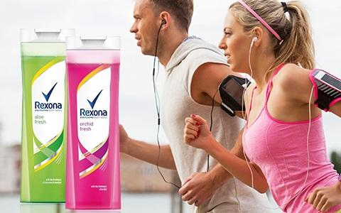 Sprchové gely a mýdla Rexona