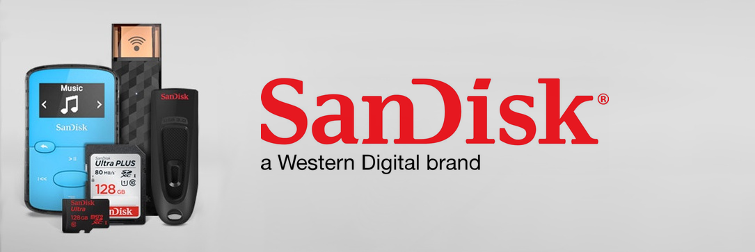 SanDisk - flashdisky, paměťové karty, MP3 přehrávače a příslušenství