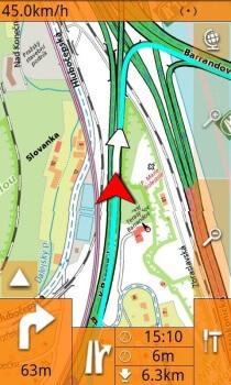 Smartmaps Navigator - grafické prostředí aplikace