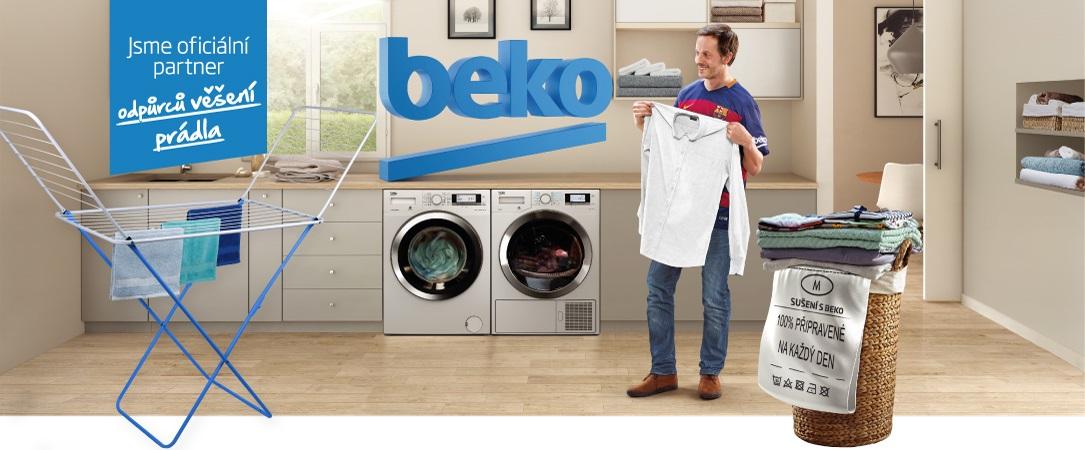 Sušičky Beko - oficiální partner odpůrců věšení prádla.