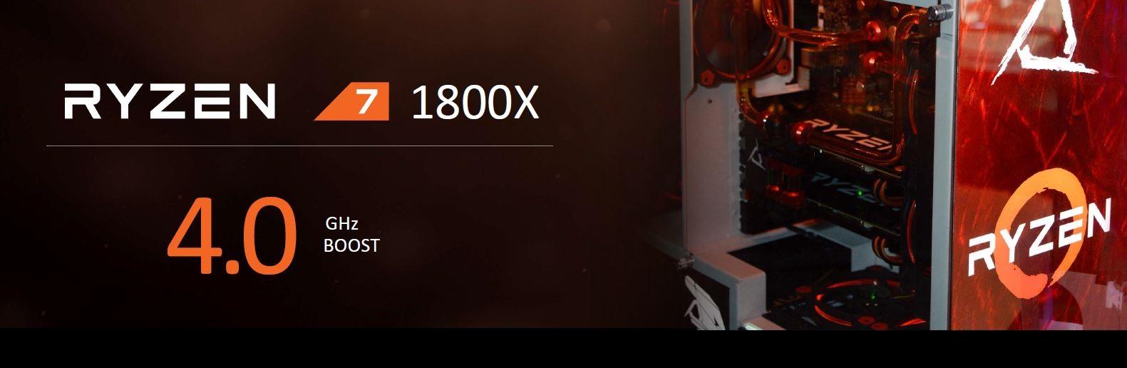 AMD Ryzen 1800X; boost