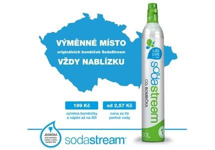 Výměnná místa bombiček SodaStream