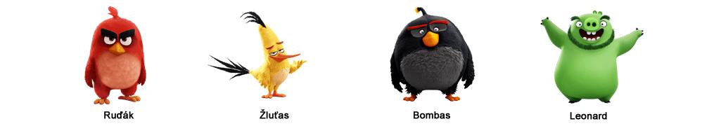 Postavy Angry Birds