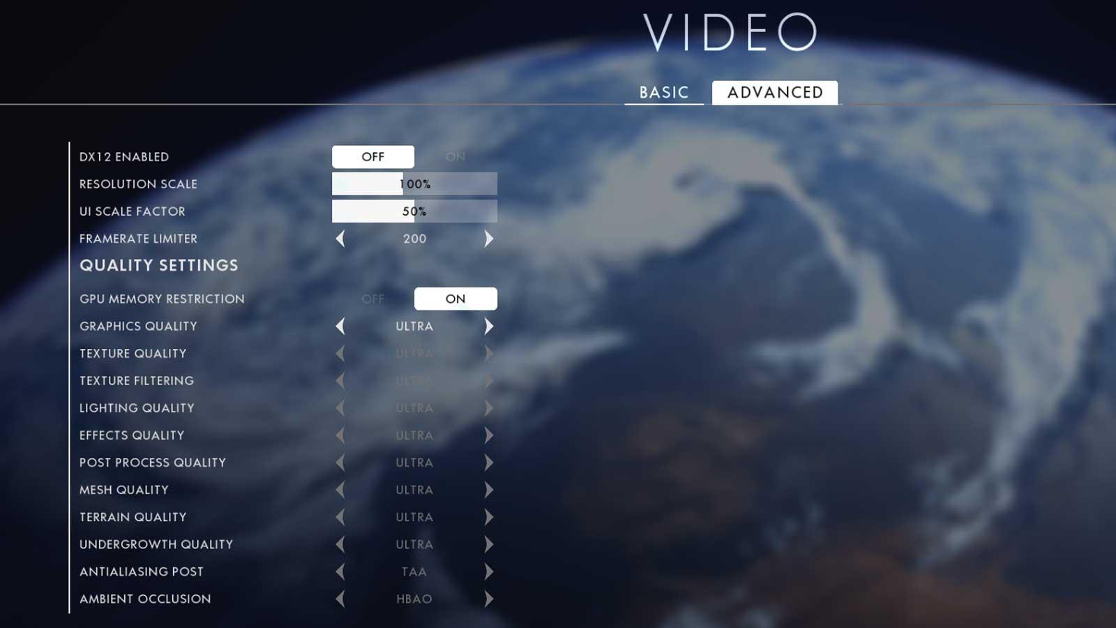 Battlefield 1 nastavení 2