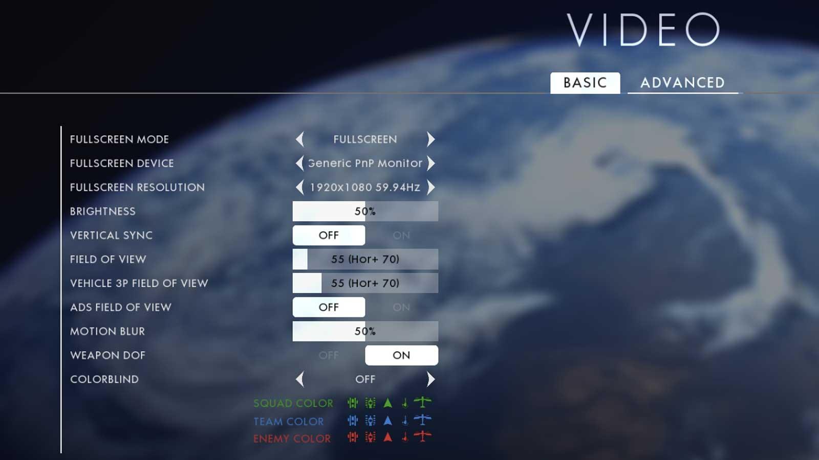 Battlefield 1 nastavení testu 1