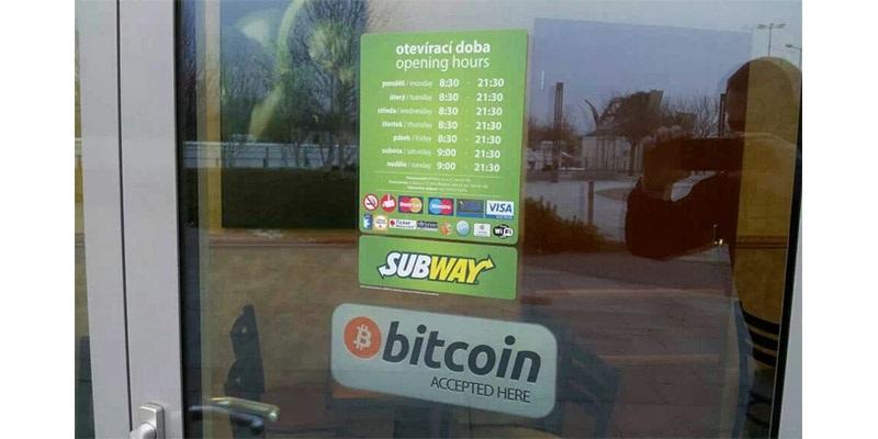 bitcoin accepted, Brno, Subway