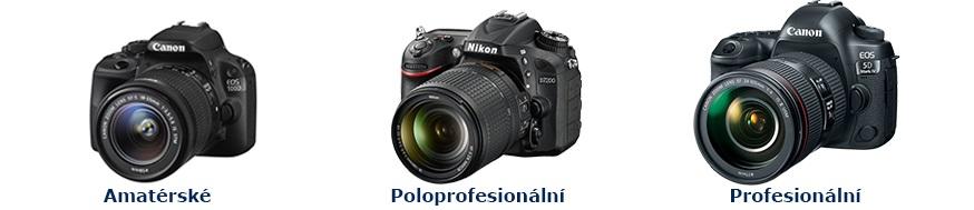 digitalni-zrcadlovky-canon-nikon-amaterske-poloprofesionalni-profesionalni