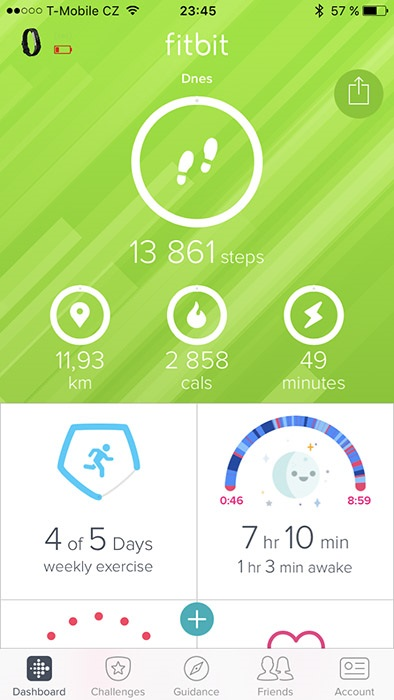 Fitbit Alta HR, aplikace