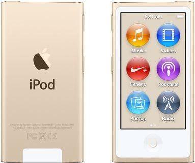 iPod Nano zlatý