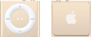 iPod Shuffle zlatý