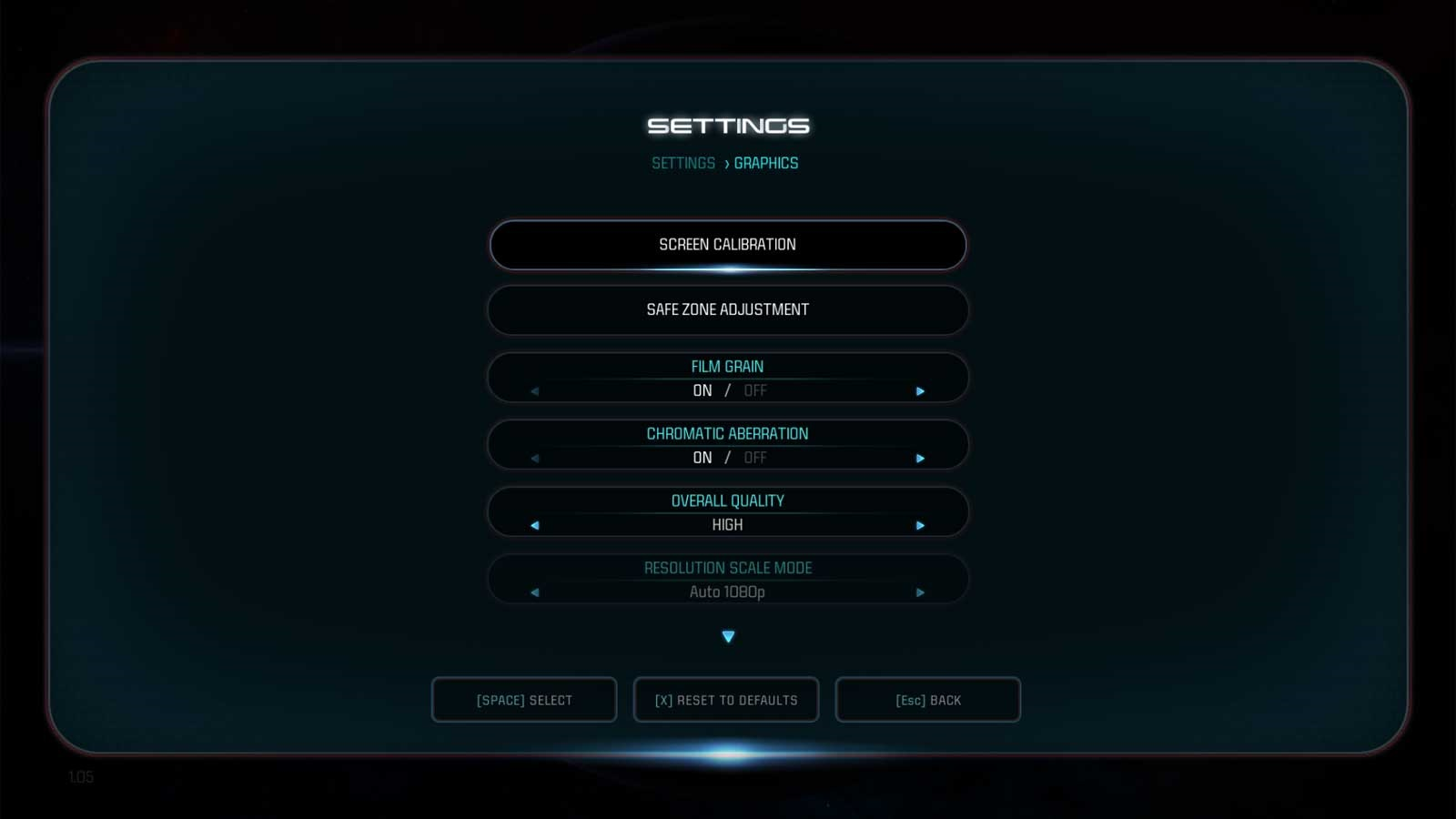 Mass Effect: Andromeda nastavení 2