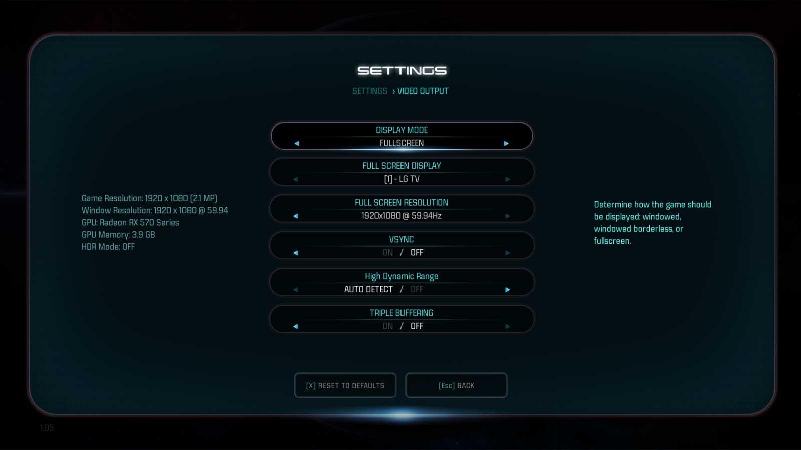 Mass Effect: Andromeda nastavení testu 1