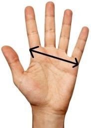 Jak změřit velikost ruky