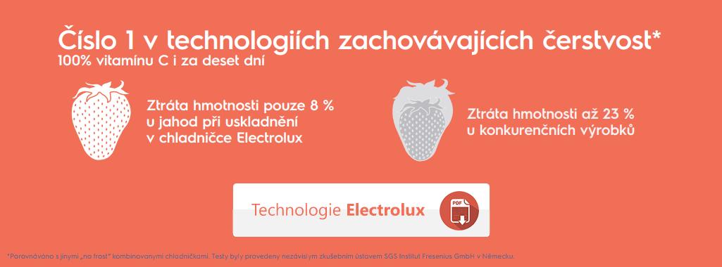 Electrolux - číslo 1 v technologiích zachovávajících čerstvost