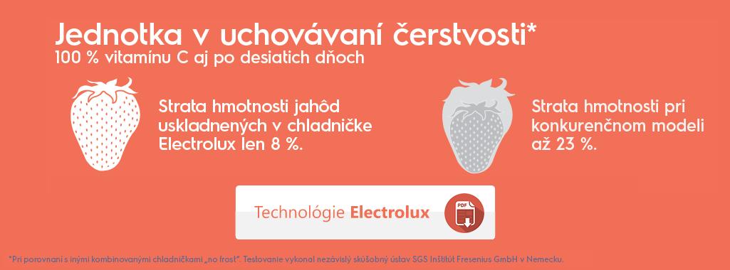 Electrolux – číslo 1 v technológiách zachovávajúcich čerstvosť