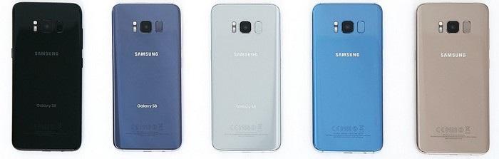 Samsung Galaxy S8 - barvy