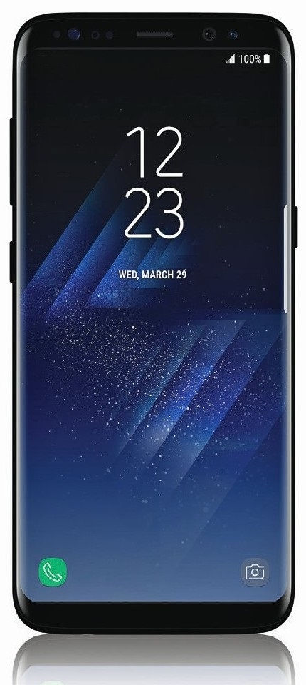 Samsung Galaxy S8 - přední strana