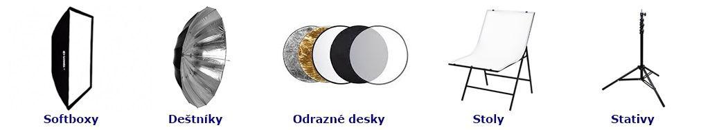 studiove_doplnky-Softboxen-Regenschirm-odrazne_desky-Tabellen-studiove_stativy