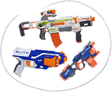 Nerf dětské zbraně