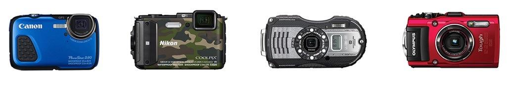 Vodotesne-kompaktni-fotoaparaty-Canon-Nikon-Olympus-Pentax