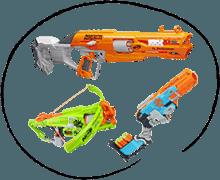 Dětské zbraně Nerf